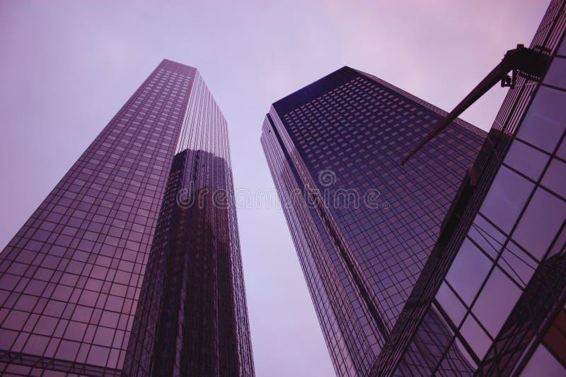 Twintowers van Deutsche Bank in Frankfurt royalty-vrije stock foto's
