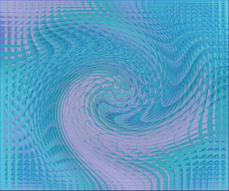 Twirl блока пинка бирюзы стоковое изображение