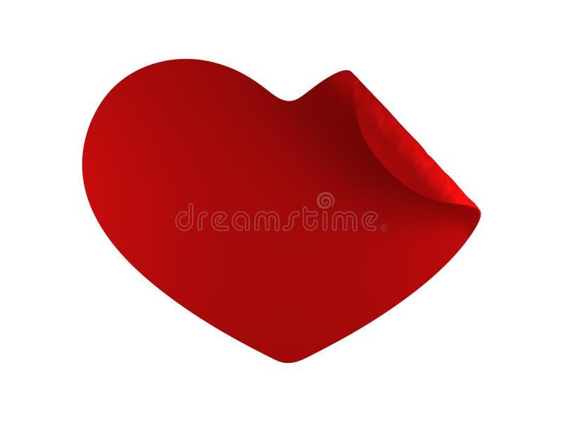 twirl красного цвета сердца иллюстрация штока