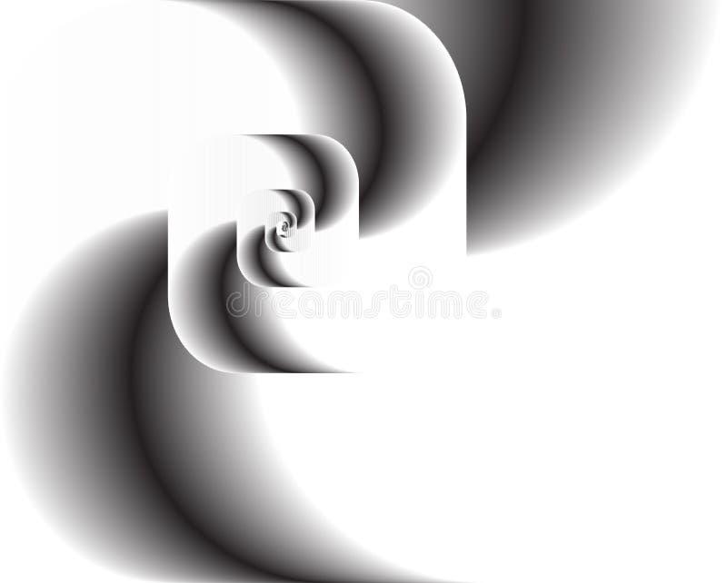 Twirl abstrato do fractal como o logotipo, fundo ilustração stock