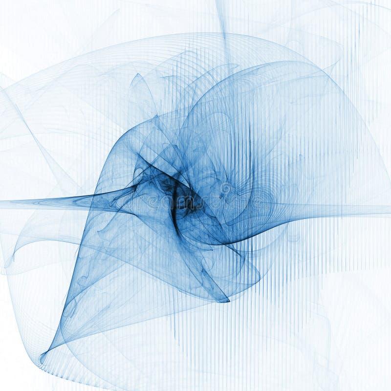 Twirl azul ilustração stock