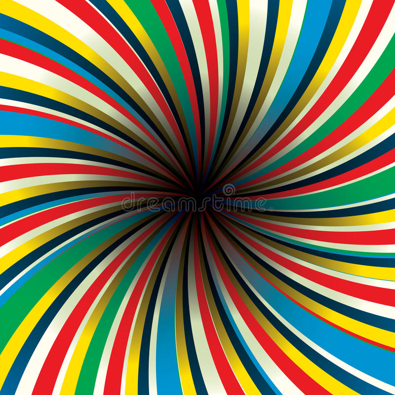 Twirl center black. Vector abstract twirl background with black center royalty free illustration