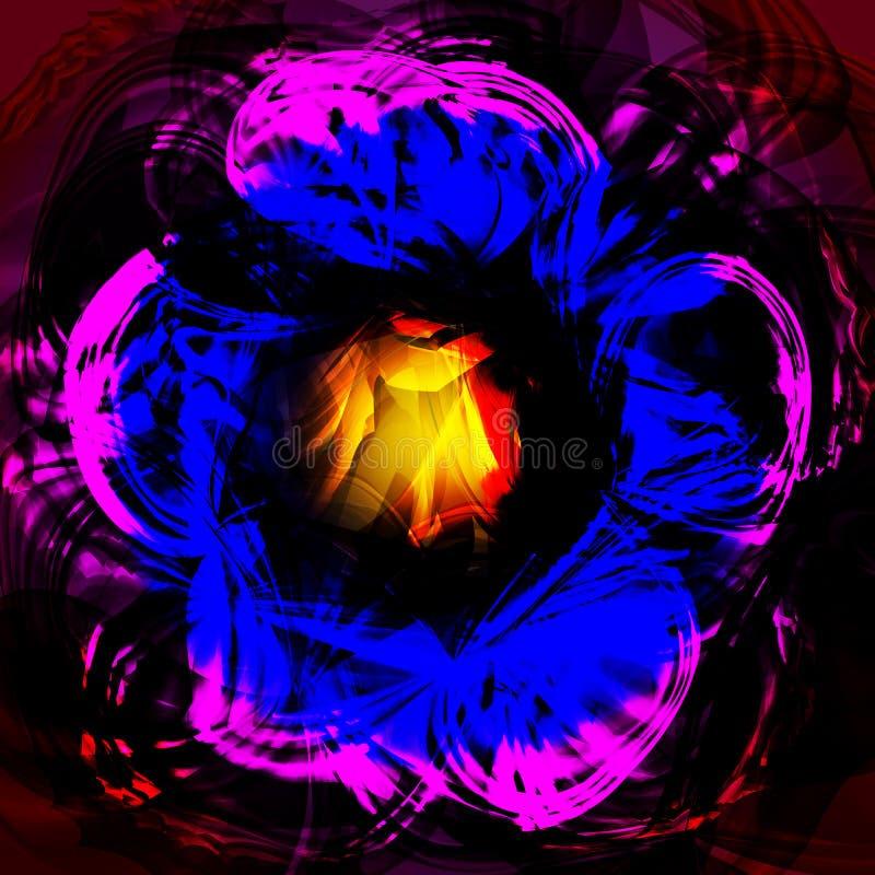 Twirl luminous light pink blue background. Vector background royalty free illustration