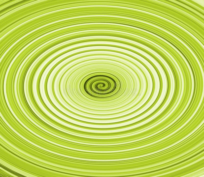 Twirl verde ilustração stock