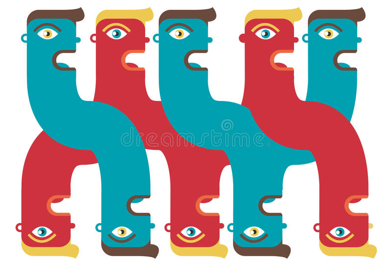 Download Twisted stock vector. Illustration of mystery, schizophrenic - 20924665