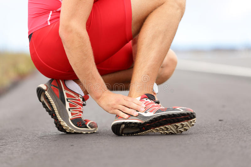 Twisted Ankle Stock Image