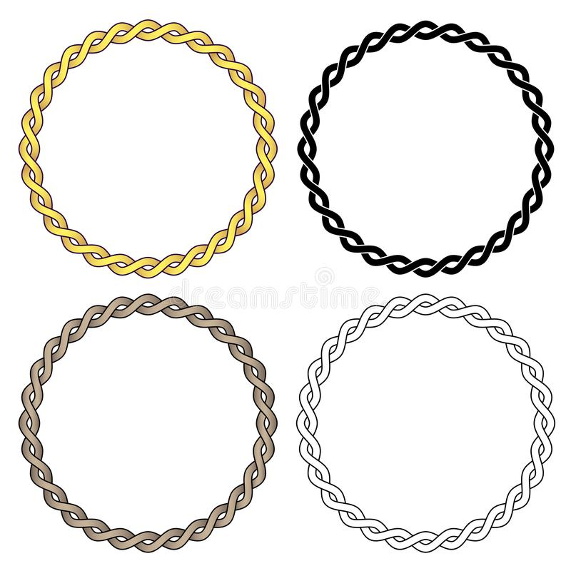 Twisted Braided Wire Rope Chain Vector Illustration stock photo
