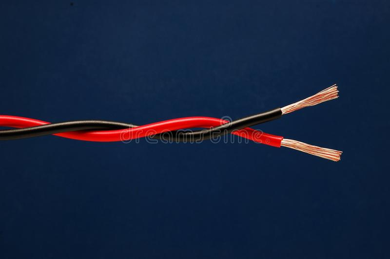Twisted cable royalty free stock photos