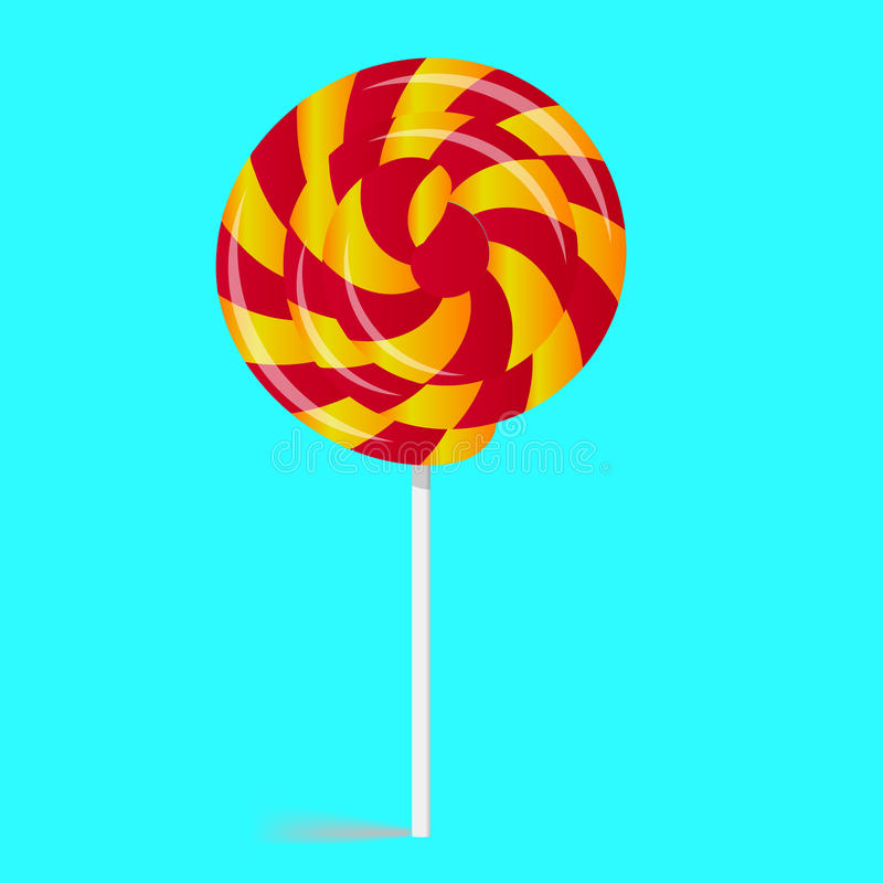 Twisted candy, sweet stock illustration