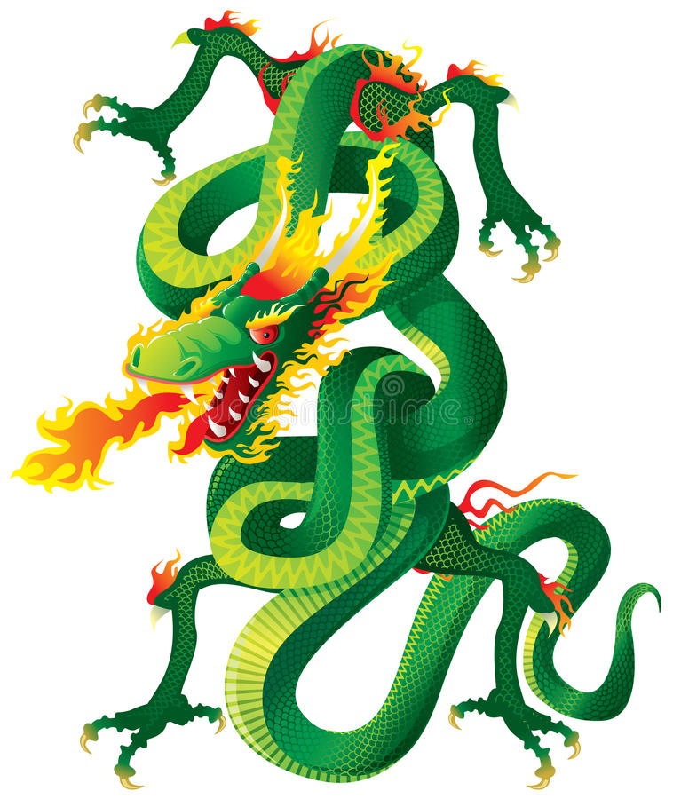 Download Twisted Dragon stock vector. Image of decorative, imagination - 15524374