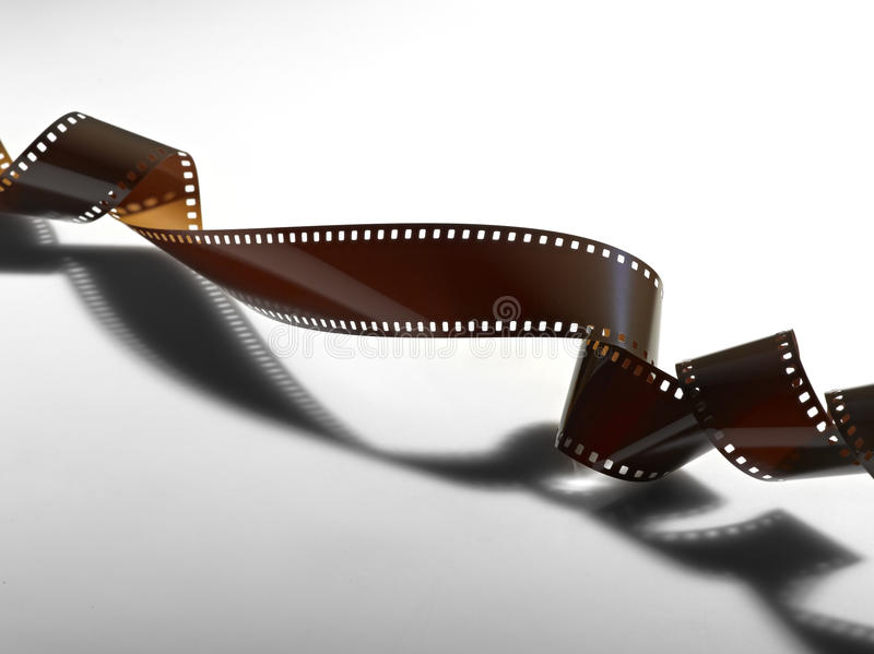 Twisted film for photo or video royalty free illustration