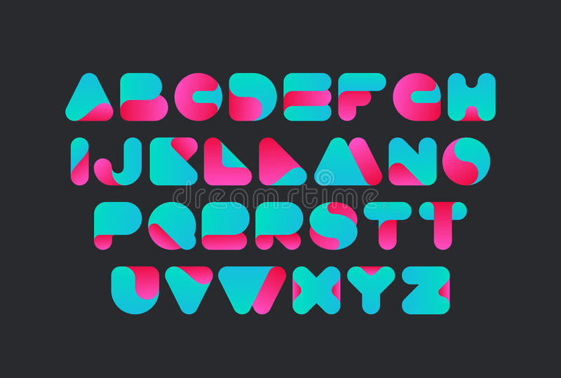 Download Twisted Font Vector Design Typeface Alphabet Stock