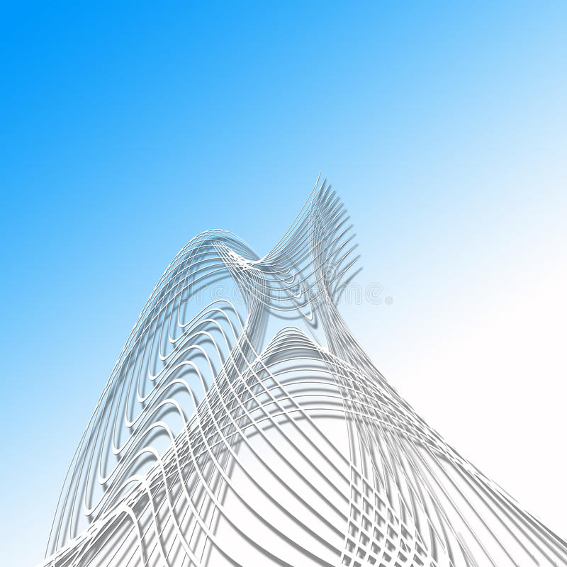 Twisted lines royalty free illustration