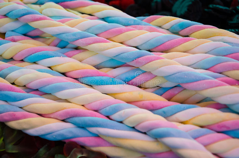 Twisted marshmallow candy royalty free stock image