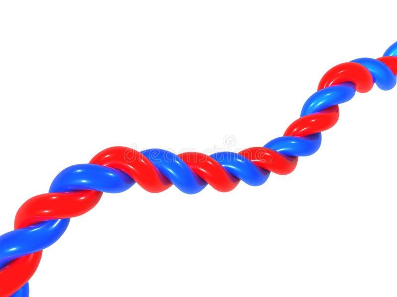 Twisted pair stock illustration