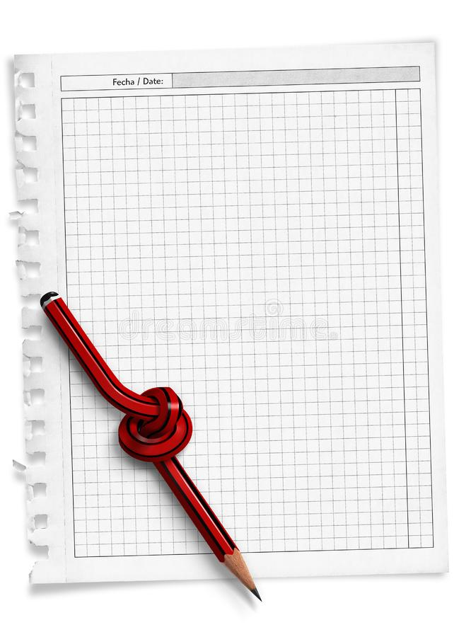 Twisted pencil royalty free stock image