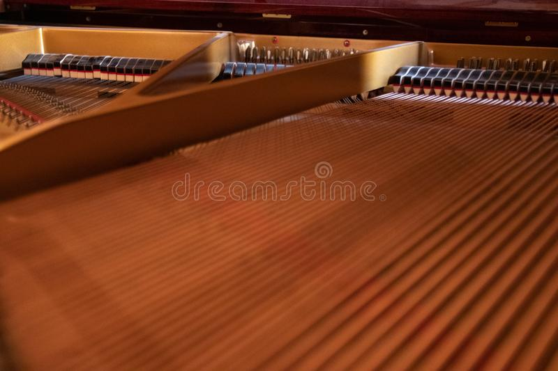 Twisted piano strings royalty free stock photography