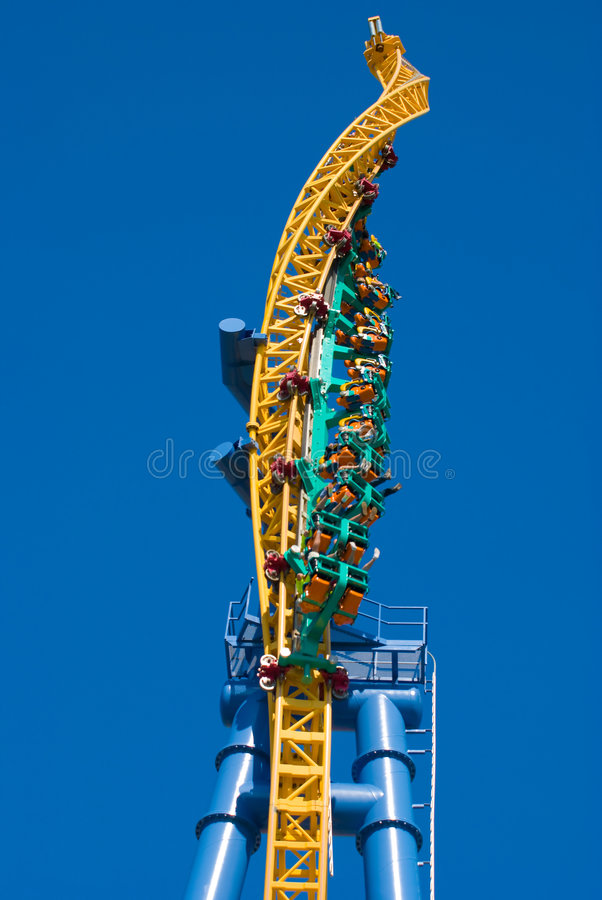Twisted Rollercoaster royalty free stock images