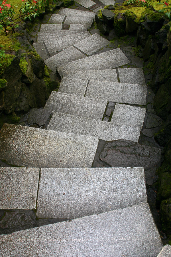 Twisted stairs stock image