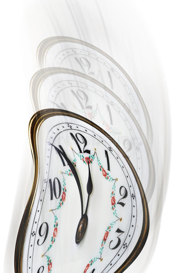 Download Twisted Time On Clock Face Stock Photography - Image: 25394452