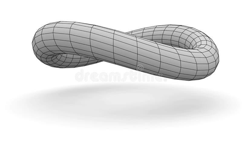 Twisted torus stock illustration