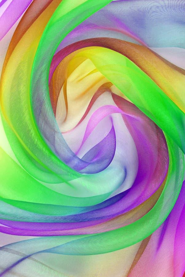 Twisted twirl av organza-väv arkivfoton