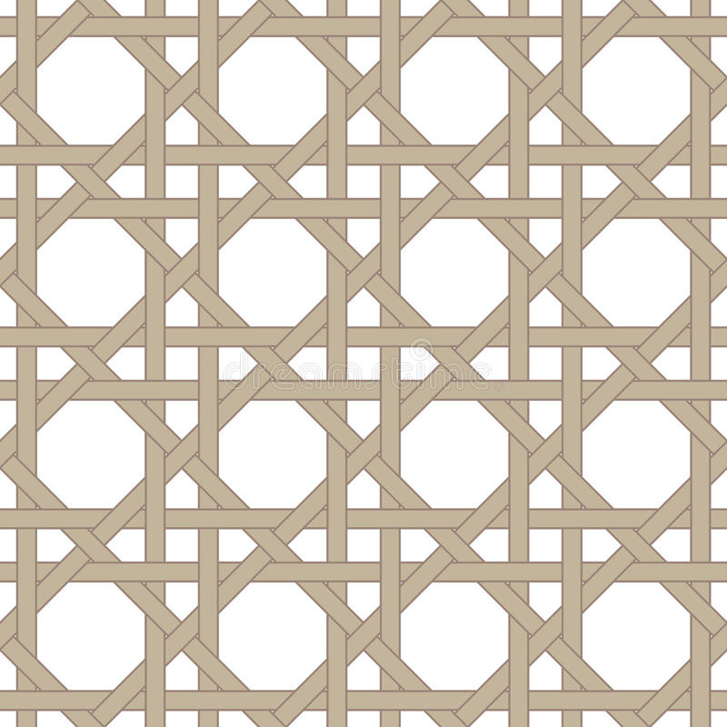 Free Twisted Vine Stripes Pattern. Woven Wood Straps Stock Photos - 61922383