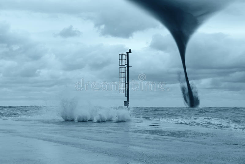 Twister on the sea royalty free stock photography
