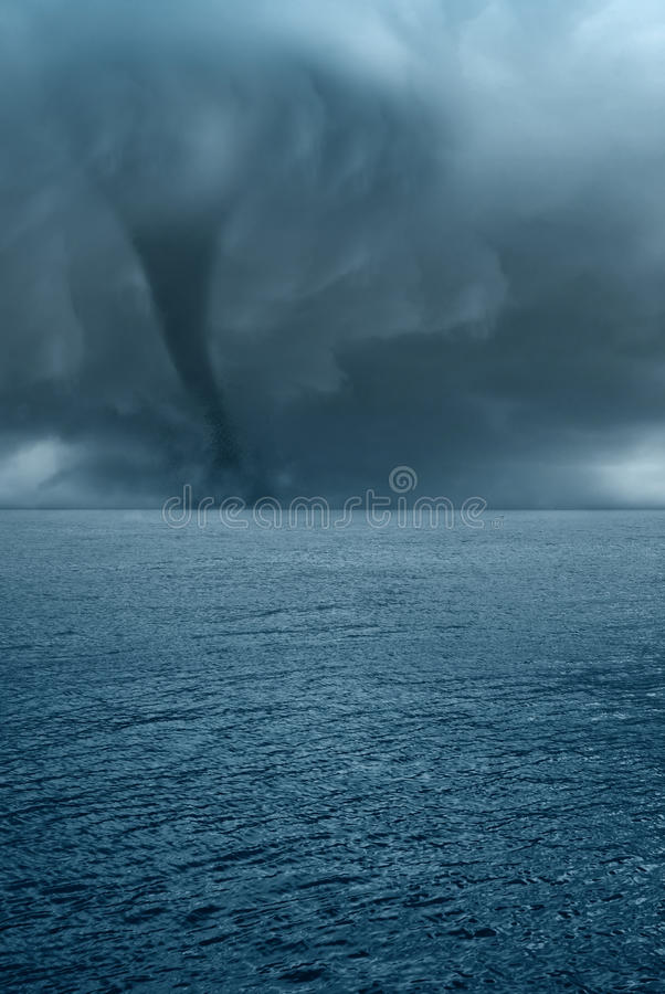 Twister on the sea royalty free stock image