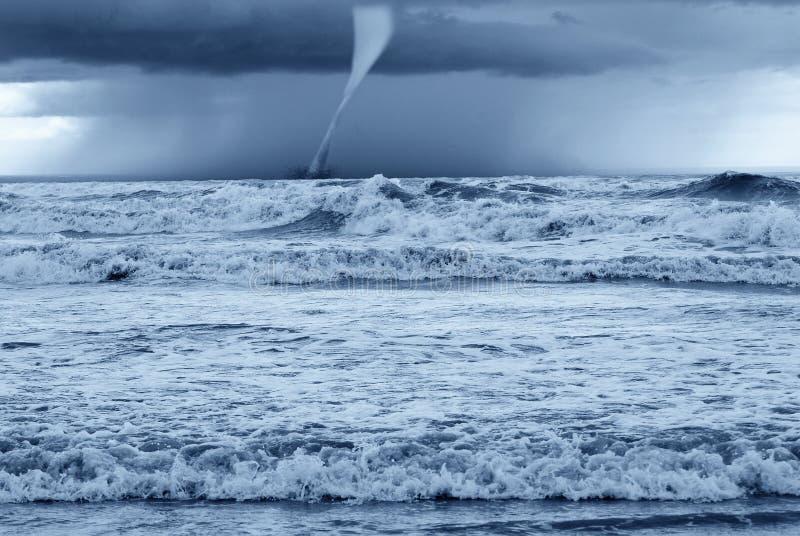Twister in the sea stock photo