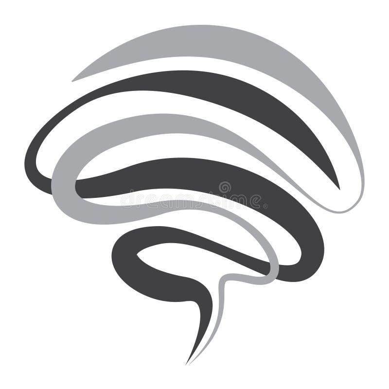 Twister symbol vector sign of tornado spiral. Design vector illustration