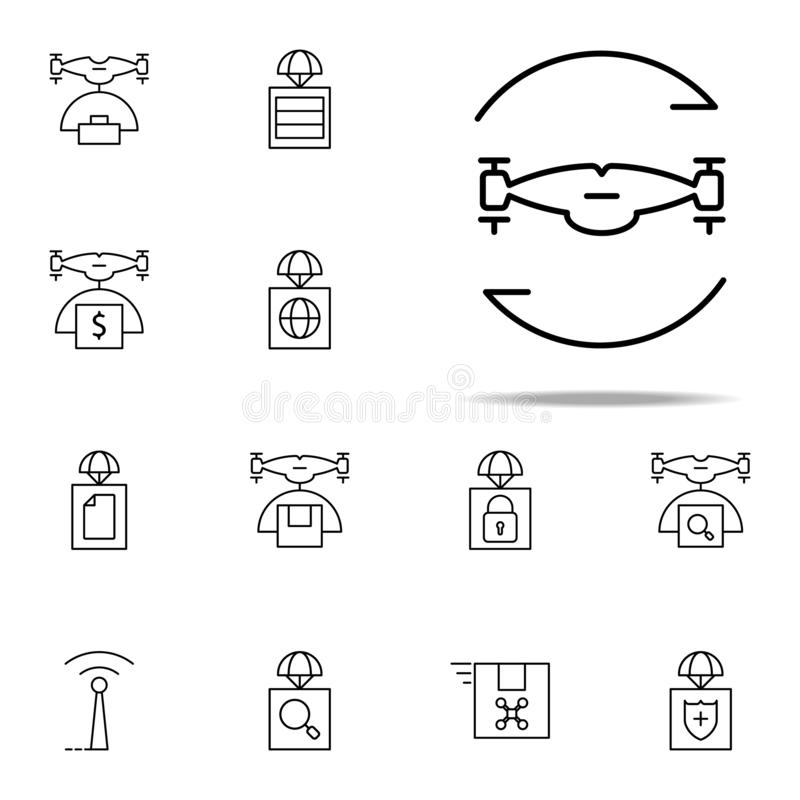 twisting drone icon. Drones icons universal set for web and mobile stock illustration