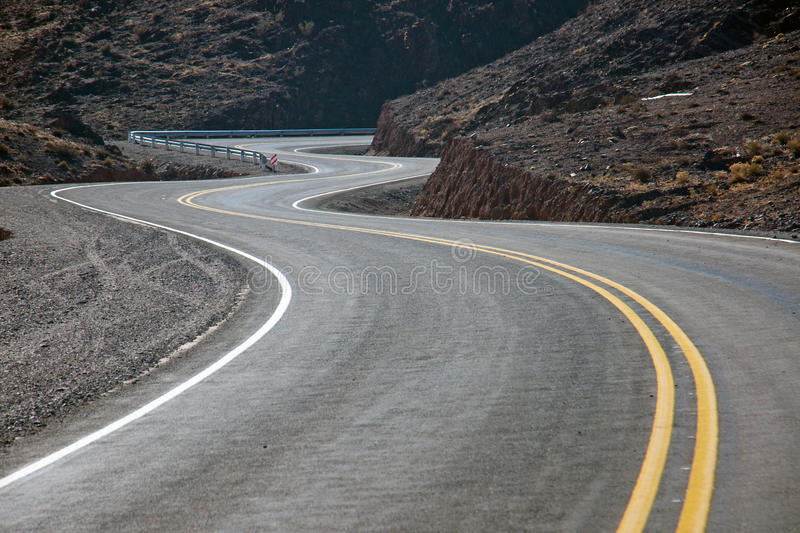 Twisting road in northern Argentina. Twisting road in the Andes of northern Argentina royalty free stock photos