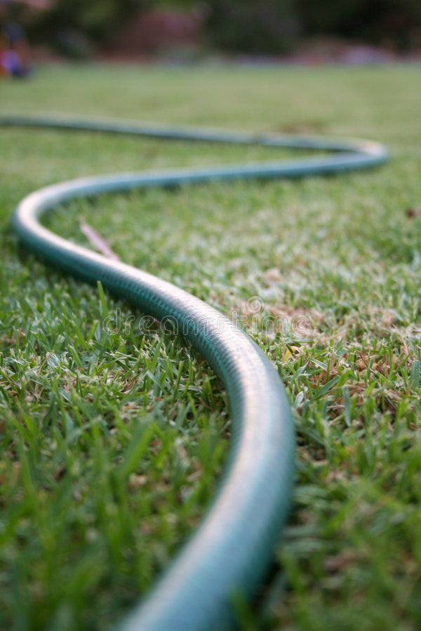 Twisty garden hose royalty free stock images