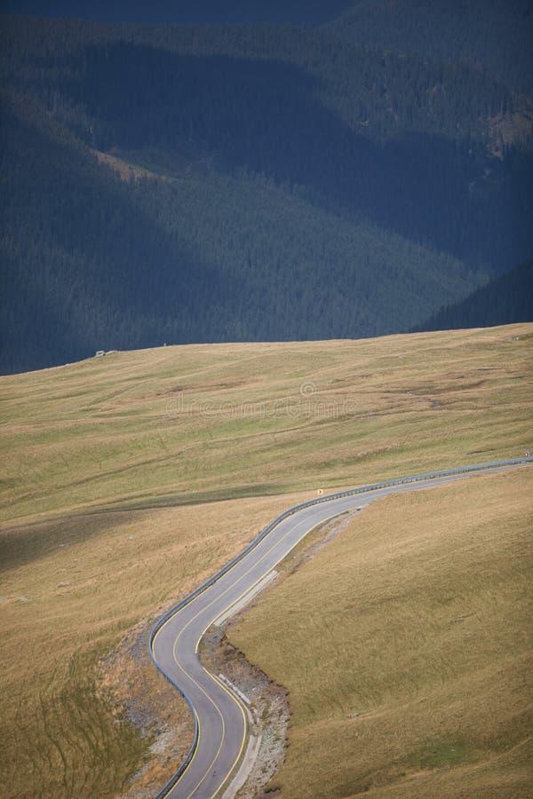 Twisty mountain road stock photo