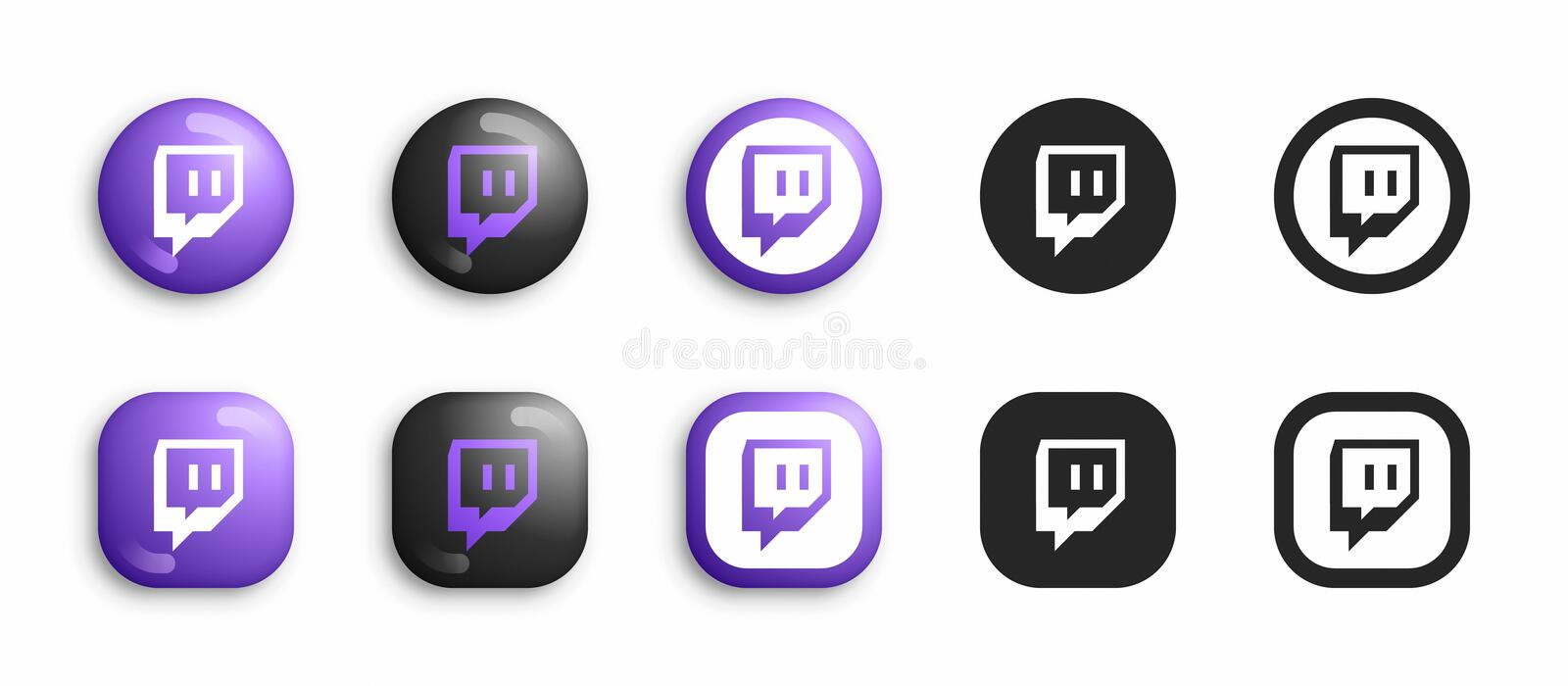 Twitch Icon Stock Illustrations 203 Twitch Icon Stock Illustrations Vectors Clipart Dreamstime