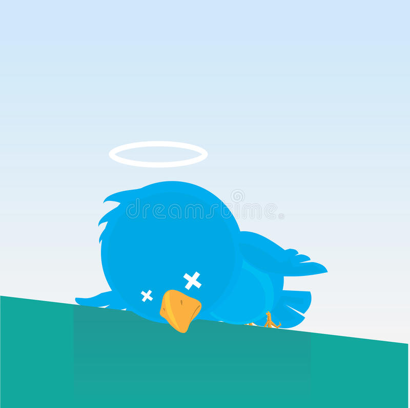 Twitless - twitter giù fotografia stock