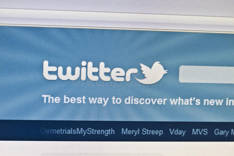 Twitter. Community page on computer screen