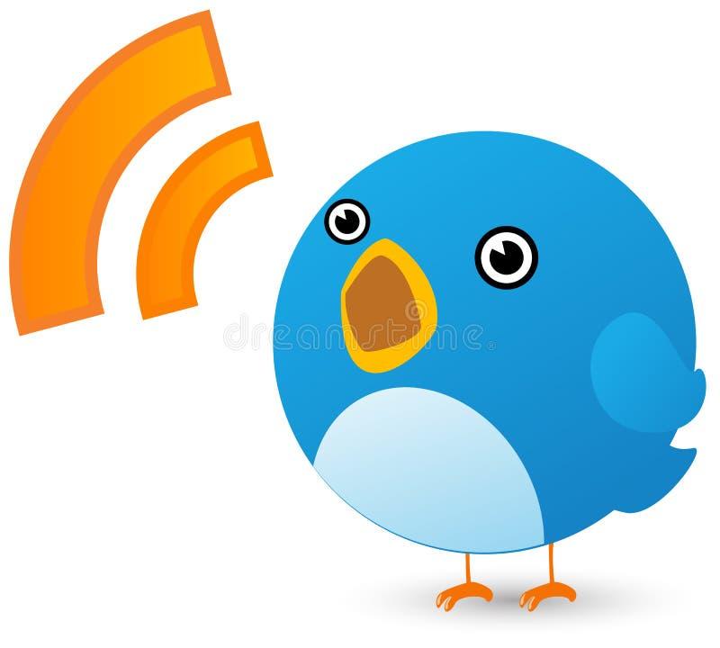Twitter bird royalty free illustration