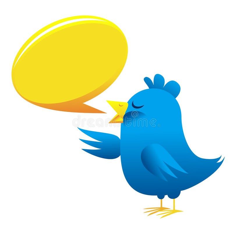 Download Twitter bird stock vector. Image of illustration, gossip - 19932468
