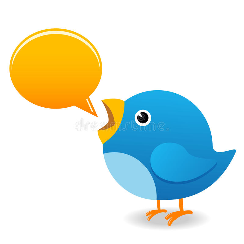 Download Twitter bird stock illustration. Image of cartoon, announcement - 9383796