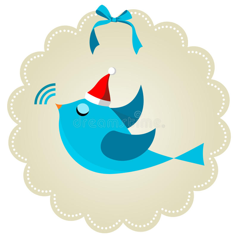 Download Twitter Bird At Christmas Time Royalty Free Stock Photos - Image: 21324768