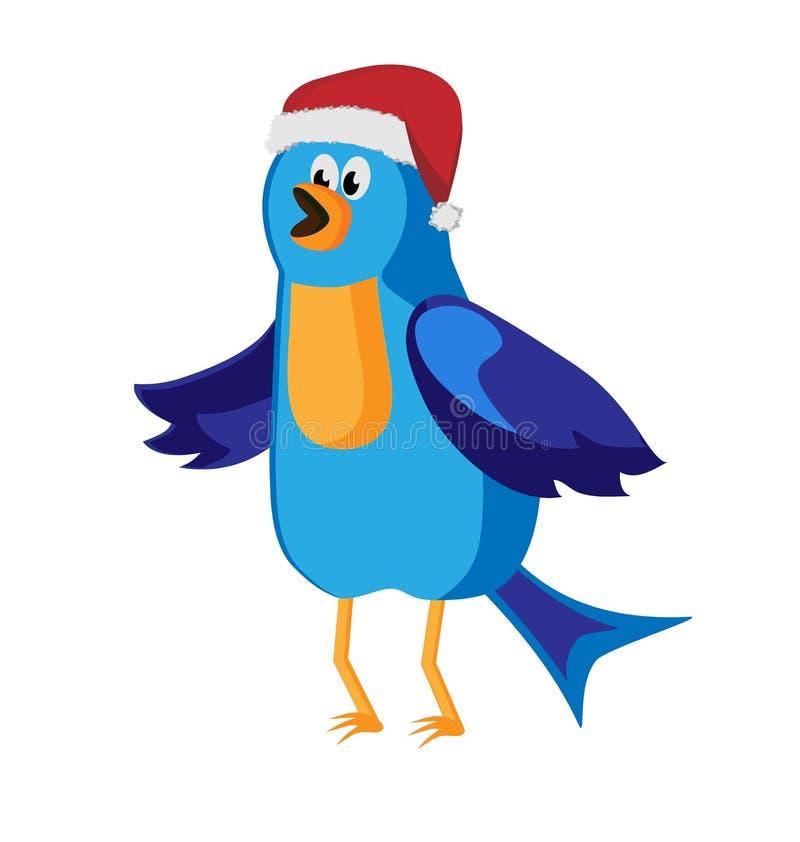 Twitter Bird Communication At Christmas Time Stock Photo