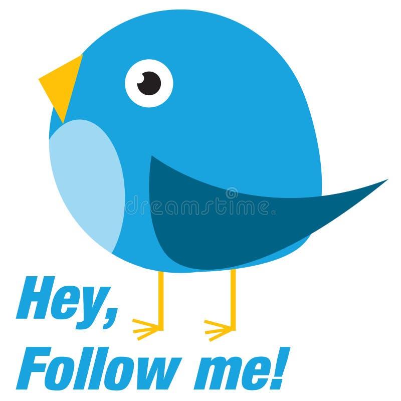 Free Twitter Bird Follow Me Stock Photography - 41073402