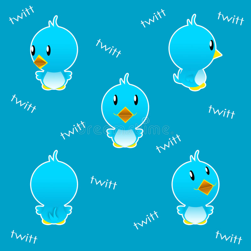 Twitter bird funny vector illustration