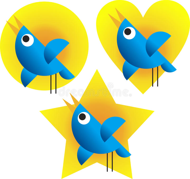 Download Twitter Birds stock vector. Image of cellular, icon, chirp - 19730611