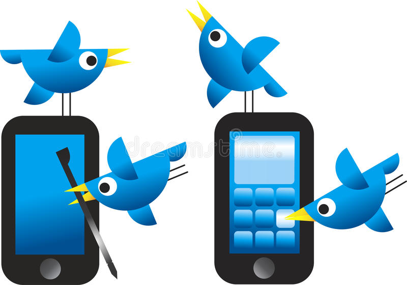 Download Twitter Birds stock vector. Image of concept, chirp, internet - 19739089