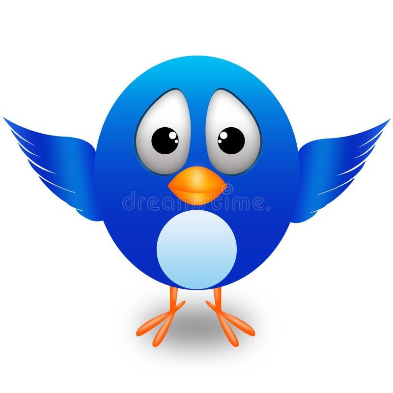 Twitter cute bird stock image
