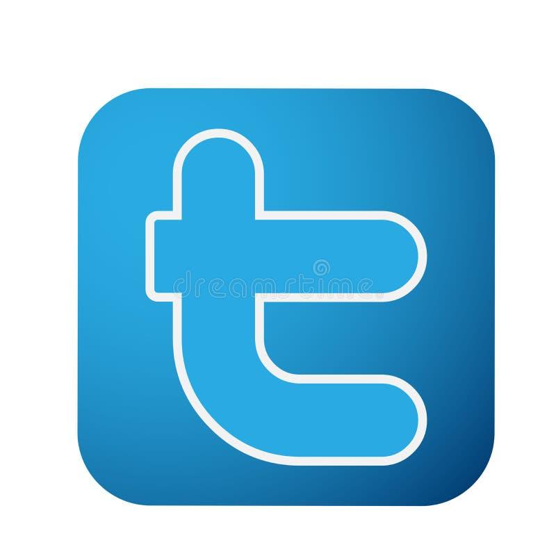 Twitter-de vectorillustraties van het embleempictogram op witte achtergrond stock illustratie