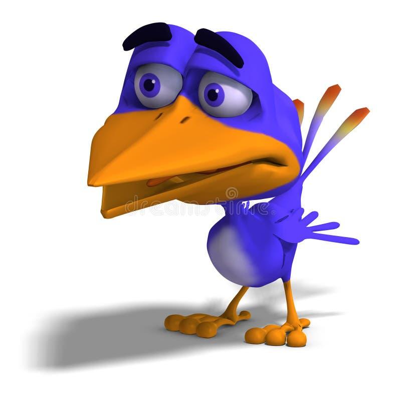 Twitter dell'uccello del fumetto illustrazione vettoriale